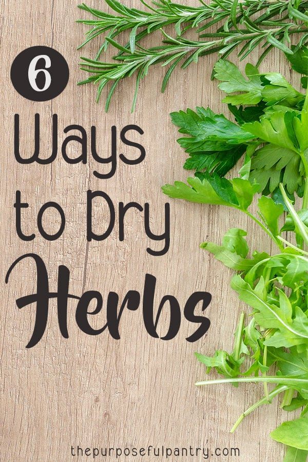 How to Dry Herbs - how to dehydrate herbs - how to preserve herbs