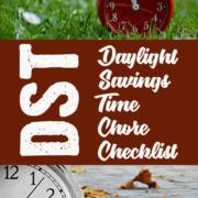 Daylight Savings Time Chore Checklist