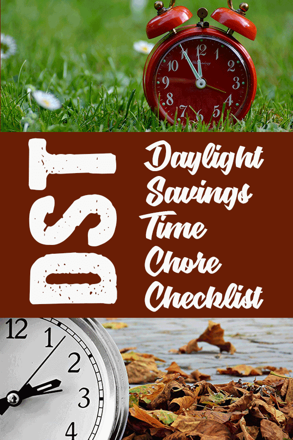 Daylight Savings Time Chore Checklist