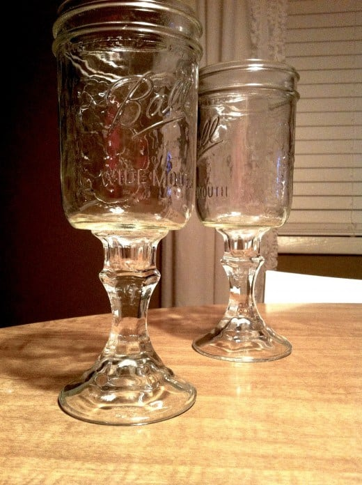 DIY Canning Jar Wine Glasses