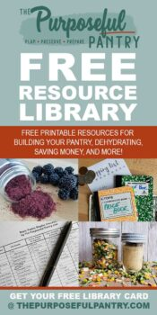Pinterest Pin with images of free printables and text overlay saying Free Library Resource Library