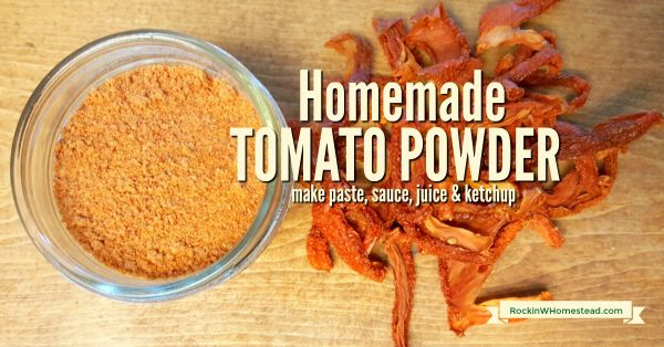 dehydrated tomatoes and tomato powder