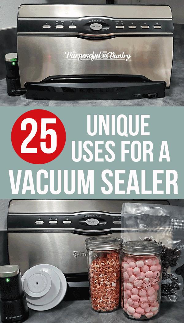 Foodsaver vacuum sealers and jars of food sealed.