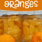Mandarin orange segments that have been canned with some fresh oranges.