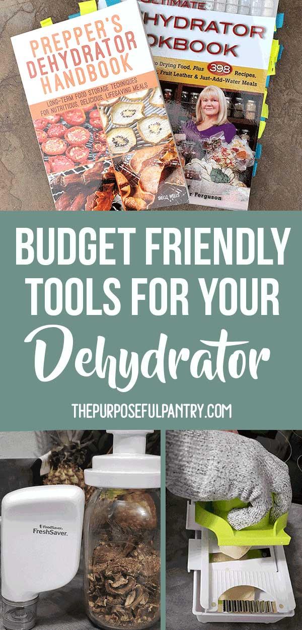 Dehydrating tools: Cookbooks, vacuums sealers, mandoline