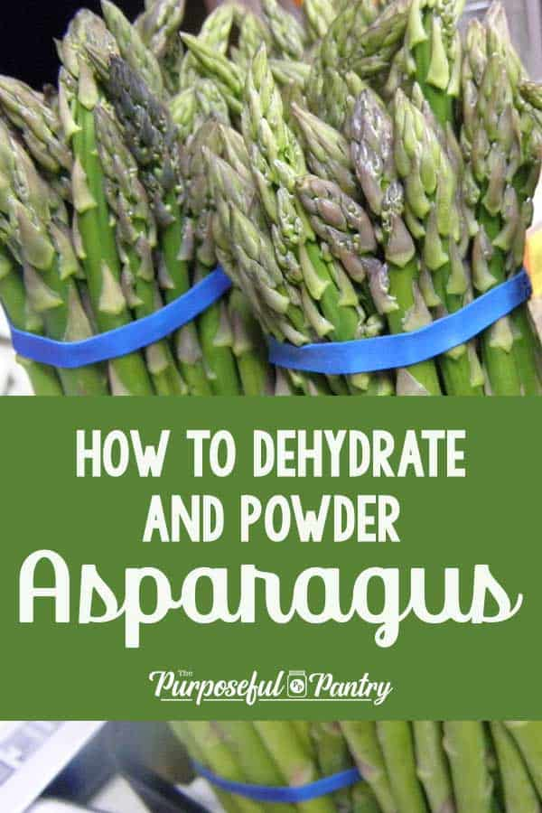asparagus bunches with blue erubber band