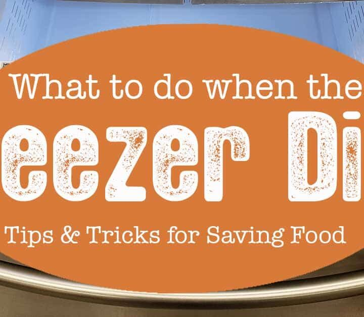 Open freezer drawer - save the frozen food in a power outage