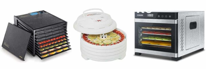 Excalibur, Nesco, and Cosori dehydrators