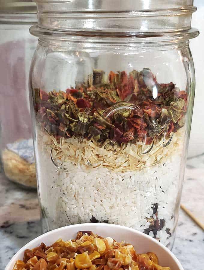 Soup in a Jar - Taco Soup recipe in a mason jar