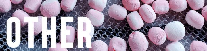 Peppermint marshmallows on Excalibur dehydrator trays.