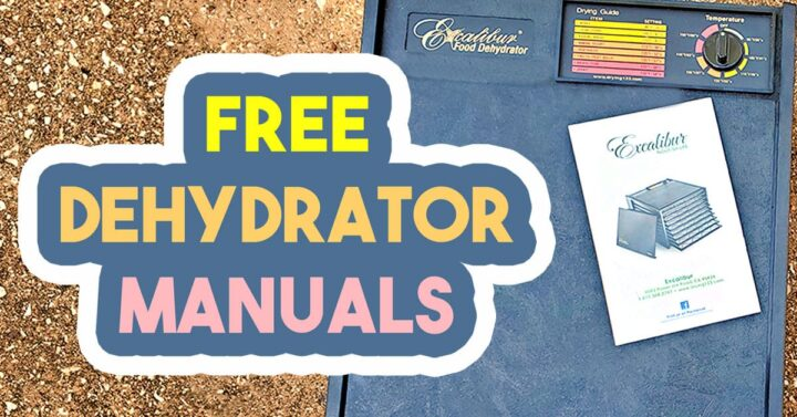 Excalibur food dehydrator and manual downloadable