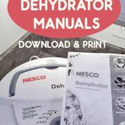 Nesco Dehydrator along with the printable manual