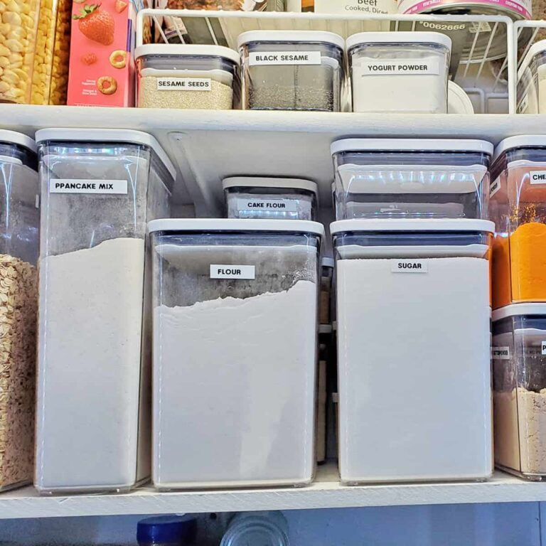 OXO Pop Containers in an organized pantry