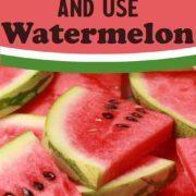 Slices of watermelon in a pile